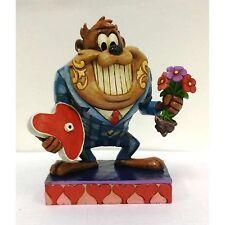 "Looney Tunes Jim Shore Figurine Valentine Tasmanian Devil ""Dinner Date"" #4054278"