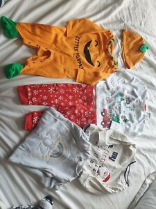 Baby Christmas, Halloween And 2021 Outfits Up To 3mths