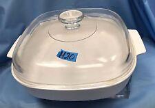 "Corning Ware 10"" White Baking Dish with Deep Lid  H20"