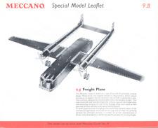 Meccano Model Plan 10.28 / 9.8 Freight Plane