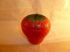 Vintage Hazel Atlas Painted Milk Glass Strawberry Jelly Jar