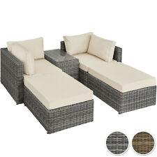 Aluminium Poly Rattan Multi Lounge Gartensofa Doppel Liege Sofa Sonneninsel Set