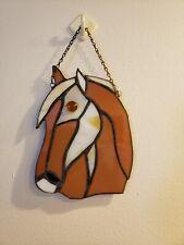 Stained Glass Horse skull Christmas Ornament/Suncatcher/Favor