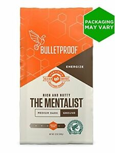 Bulletproof The Mentalist Medium - Dark Roast Ground Coffee,(12 Ounces)