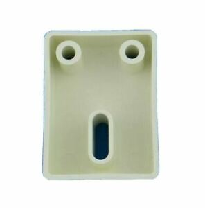 Hunter Douglas White Box Square Shaped Bracket Piece Oval Hole Replacement Part