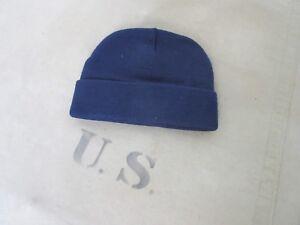 US Army Watch Cap Navy Blue Short Size Knit Cap Wool Hat Marines Usmc WWII