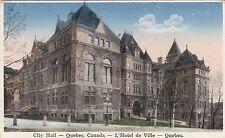 Hôtel de Ville QUEBEC City Hall QC Canada 1920-30s Librairie Garneau Postcard