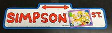 """Ultra Rare 1990 Official VINTAGE Original The Simpsons Street Sign """"Simpson St."""""""