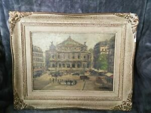 Exceptional French master oil Signed and Frame Grand Opera House Paris
