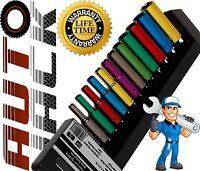 "Pro Quality 12pc 1/4"" Sq Drive 6pt Metric Multi Coloured Deep Socket Set on Rail"