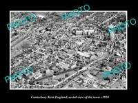 OLD LARGE HISTORIC PHOTO OF CANTERBURY KENT ENGLAND AERIAL VIEW OF TOWN c1950 6