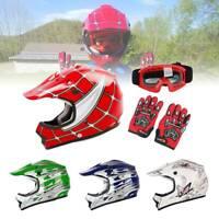 Helmet DOT Youth Kids Motorcycle Full Face Offroad Dirt Bike ATV Size S M L XL