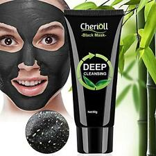 Charcoal Face Mud Black Mask, Bamboo Blackhead Remover, Deep Cleansing Peel