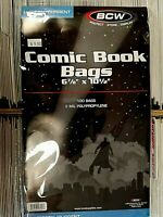 20-BCW CURRENT MODERN COMIC BAGS AND BOARDS- PROTECT YOUR COMIC BOOKS!!