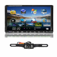 """Camera+Double 2 Din 7"""" In Dash Stereo Car DVD Player Bluetooth Radio iPod TV SD"""