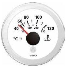 VDO Marine Viewline White Water Temperature Gauge 40-120 DegC 12/24 volt 52mm