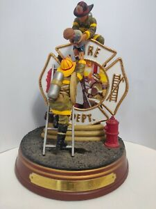 HEROES AT WORK FIRE DEPT Statue 2001 The BRADFORD Exchange Courage Under Fire