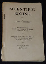 1905 SCIENTIFIC BOXING by JAMES J. CORBETT - 126 pages book /45 photos -ORIGINAL