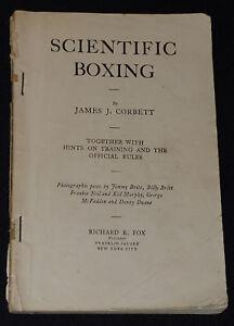 1905 SCIENTIFIC BOXING by JAMES J. CORBETT - 126 pages book /45 photos -ORIGINAL