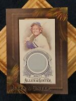 ⚡GEORGE BRETT⚡2016 Allen & Ginter MINI GAME USED FRAMED JERSEY RELIC ⚾️ROYALS⚾️
