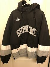 Supreme Puffy Hockey Pullover Jacket Snowboarding Black L