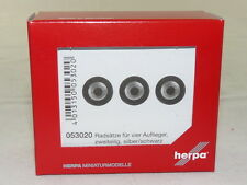 herpa 053020 Medi Radsätze für Auflieger - silber/schwarz NEU + OVP