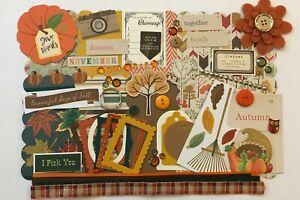 Fall Blessings Custom Chipboard Mini Book Album Kit Scrapbook Echo Park