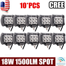 "10x4""18W LED Work Light Bar Flood Offroad Fog Lamp 4WD SUV Boat Pickup ATV TRUCK"