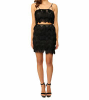 NEW & TAGS Bettina Liano Ladies Fringe Mini Skirt & Crop top size 10 12 rp $425