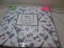Pickle & Dot Twin Sheet Set ~ Paris, Eiffel Tower, Bow, Heart, Bicycle, Bonjour