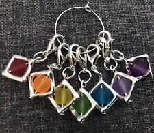 Knitting Stitch Markers Rainbow Chakra Markers, Chakra Charms