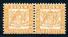 BADEN 1862 22b ** POSTFRISCHES PAAR (Z0718