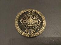 MAYAN CALENDAR Round New BELT BUCKLE Metal Pewter Maya