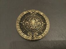 MAYAN CALENDAR Round New BELT BUCKLE Bronze Metal Pewter Maya Aztec