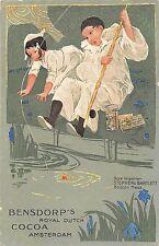 B86/ Amsterdam Netherlands Advertising Postcard Densdorp's Cocoa Boston Mass