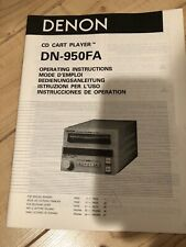 Denon Owners Manuals Service Manuals Dn 950 951 961 770R 645 720 650F (Pick One)