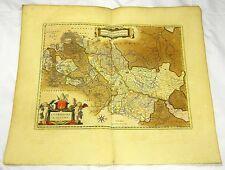 LÜTTICH LIEGE WALLONIEN WALONNE BELGIEN KARTE PLAN MIT GOLD BLAEU 1662 #D936S