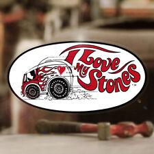 I Love My Stones FIRESTONE Adesivi Sticker autocollante Hot Rod Old School