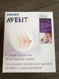 PHILIPS AVENT NIPLETTE TWIN PACK FLAT/ INVERTED BREAST NIPPLE BRA PAD SCF152/02