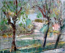 HST impressionniste Jean-Paul Ulysse - Prix de Rome - Bord d'Oise en mai