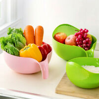 Plastic Vegetable Fruit Rice Washing Drain Strainer Colander Basket Kitchen Tool