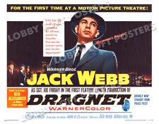 DRAGNET LOBBY CARD POSTER HS 1954 JACK WEBB SERGEANT JOE FRIDAY ANN ROBINSON