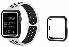 Replacement Band Strap + Case For Nike+ Apple iWatch Watch 123 White Black 42mm