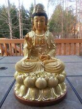 """19""""H Chinese Lotus Buddhism Kwan-yin Guanyin Buddha Statue"""