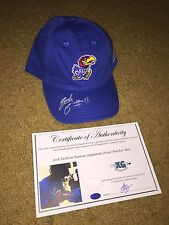 JOSH JACKSON KANSAS JAYHAWKS SIGNED PEARL HARBOR EXCLUSIVE HAT CAP ADIDAS-PROOF
