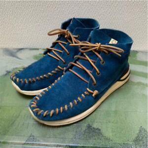 visvim YUCCA MOC MID-FOLK Boots Blue US 9 Used From Japan