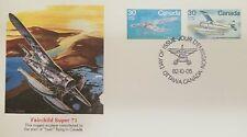 A) 1982 Canada, Aircraft, Fairchild Super 71, Flying, Ottawa, Fdc.
