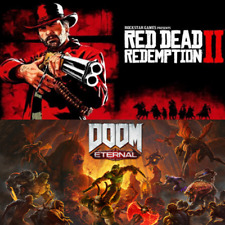 2 x Games RED DEAD REDEMPTION 2 DOOM ETERNAL DELUXE EDITION STEAM PC DLC FAST ⭐