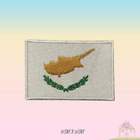 Cyprus National Flag Embroidered Iron On Patch Sew On Badge Applique