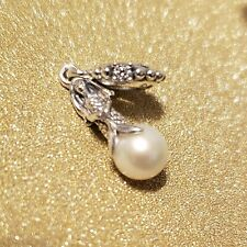 Authentic Pandora #798232CZ Disney Luminous Ariel Dangle Charm with Pearl
